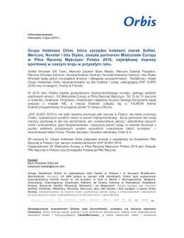 OrbisPartnerem_XII Mistrzostw Europy w Piłce Ręcznej Mężczyzn