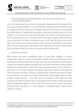 1. Przeczytaj fragment powieści Edmunda White`a A Boy`s Own