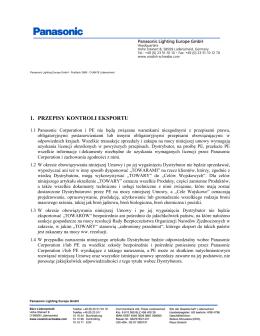 1. PRZEPISY KONTROLI EKSPORTU - Vossloh
