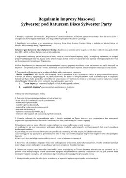 Sylwester pod Ratuszem 2015 regulamin-2