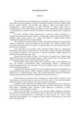 NIE ODDAM DZIECI fragment - matras.pl na facebook.com