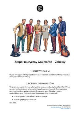 Zespół muzyczny Grajmofon – Zabawy