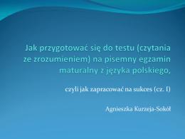 Jak przygotować się do testu na egzamin maturalny z języka polskiego