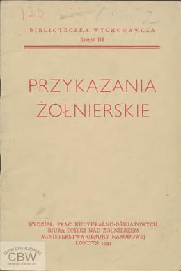 Przykazania żołnierskie (1944r.)