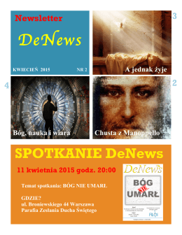 newsletter – kwiecien