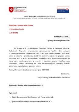 Regionalny Biuletyn Informacyjny województwo śląskie nr 8/12