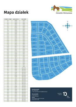 Mapa działek - Osiedle Wieszowa