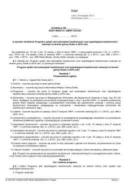 projekt - pdf - BIP - Urząd Miasta i Gminy Dolsk