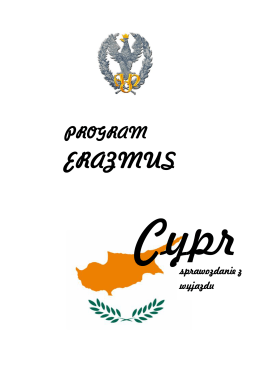 Sprawozdanie z pobytu na Cyprze