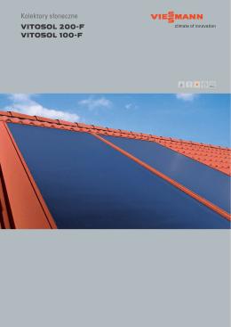 Kolektory słoneczne VITOSOL 200-F VITOSOL 100-F