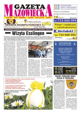 Numer 3/4 - Gazeta Mazowiecka (1.04.2015)
