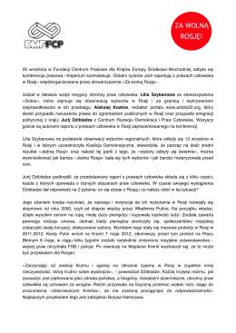 Pobierz notę - Za Wolną Rosję