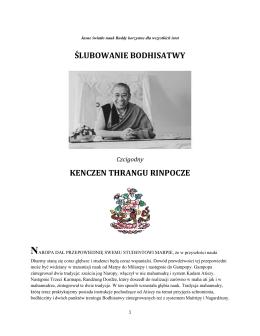 Thrangu Rinpocze - Slubowanie bodhisatwy