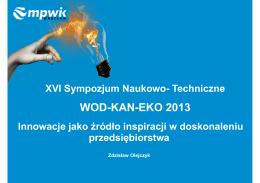 WOD-KAN-EKO 2013 - Kierunek Wod-Kan