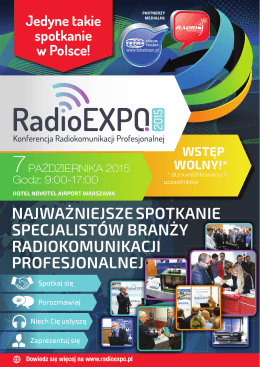 AGENDA RadioEXPO 2015