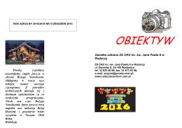 NR 5/Grudzień 2015 - Zespół Szkół w Radoczy