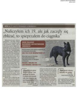 zobacz artykuł - Towarzystwo Opieki nad Zwierzętami w Polsce
