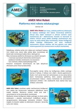 AMEX Mini Robot (ulotka informacyjna)