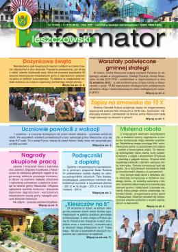 Informator Kleszczowski nr 17/420 – 1-15.IX.2015