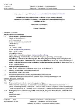 Polska-Zabrze: Roboty budowlane w zakresie