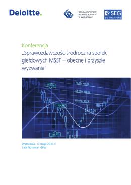 """Konferencja """"Sprawozdawczość śródroczna spółek giełdowych"""