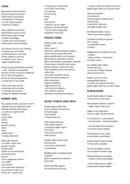 apetyczne wiersze Wandy Chotomskiej