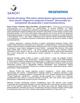 Sanofi and Regeneron Report Positive Top