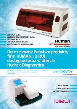 Dobrze znane Państwu produkty firm HUMAN i DIRUI dostępne