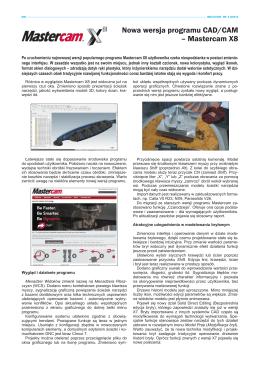 Nowa wersja programu CAD/CAM – Mastercam X8
