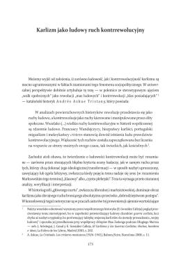 Karlizm jako ludowy ruch kontrrewolucyjny