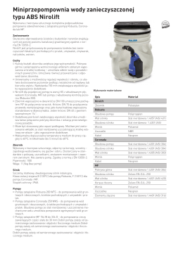 Miniprzepompownia wody zanieczyszczonej typu ABS Nirolift