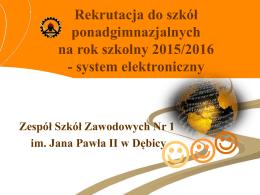 Procedury elektronicznej rekrutacji na rok szkolny 2015-2016