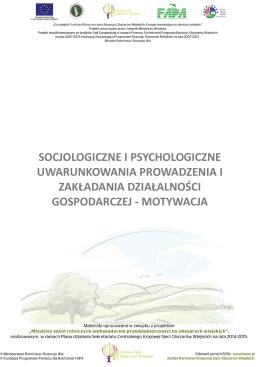 socjologiczne i psychologiczne uwarunkowania