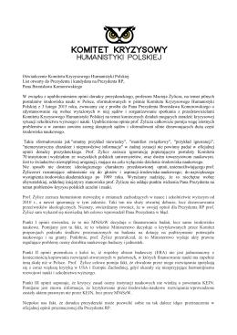linkiem - Komitet Kryzysowy Humanistyki Polskiej