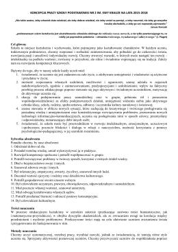 Koncepcja pracy szkoły na lata 2015-2018