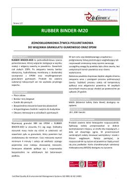RUBBER BINDER-M20 - alchimica.com.pl