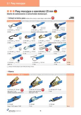 Pasy mocujące o szerokości 25 mm