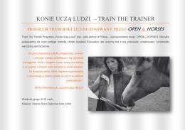 Szkolenie trenerskie Open by Horses