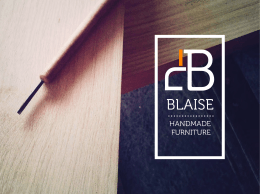 Katalog - Blaise Handmade Furniture