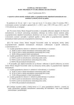 UCHWAŁA NR XII/117/2015 RADY MIEJSKIEJ W STARGARDZIE