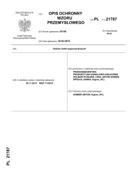Rp.21787_S2 - Urząd Patentowy Rzeczypospolitej Polskiej