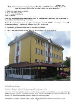 Zał. 1. Wykaz nieruchomości przeznaczonych do zbycia w PGE EO
