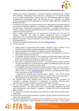 Regulamin obozów i wyjazdów organizowanych przez Fun Football