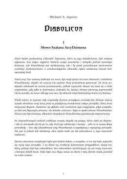 Diabolicon - cz. I - Słowo Szatana ArcyDaimona