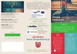www.ckiopodkowa.pl PTASIA PODKOWA