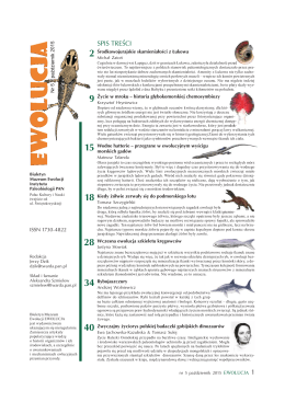Spis tresci.indd - Muzeum Ewolucji