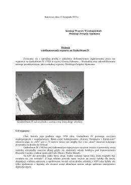 Gasherbrum IV - Polski Związek Alpinizmu