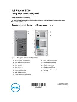 Precision T1700 Konfiguracja i funkcje komputera