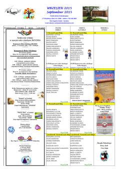 Wrzesien calendar 2015