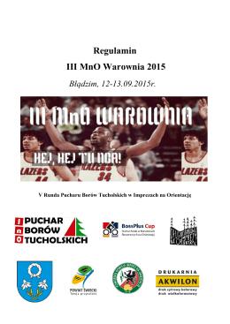 Regulamin III MnO Warownia 2015